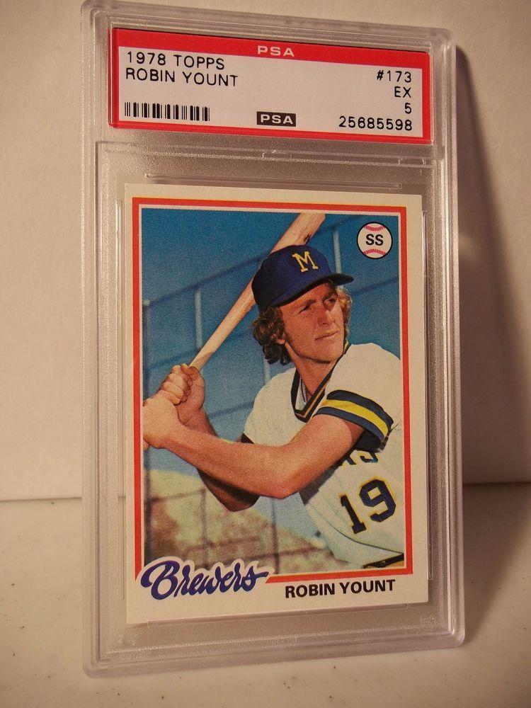 1978 topps robin yount psa ex5 baseball card 173 mlb