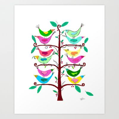 Tree of Life Art Print by Pink Pagoda Studio / Barbara Perrine Chu - $22.88