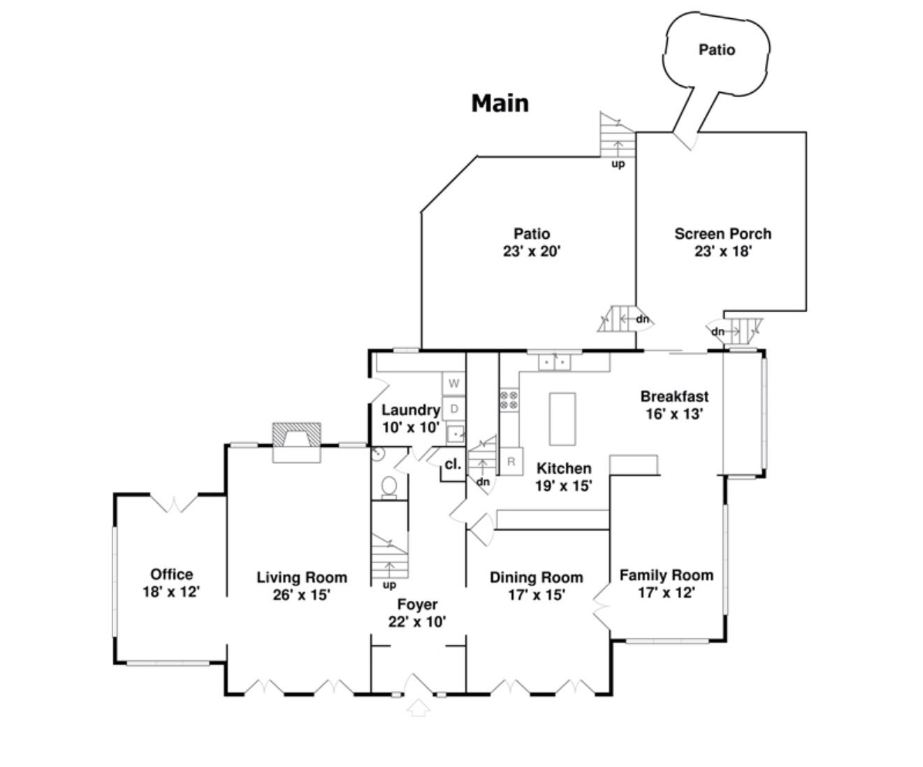 """floor plan for the """"Home Alone"""" house"""