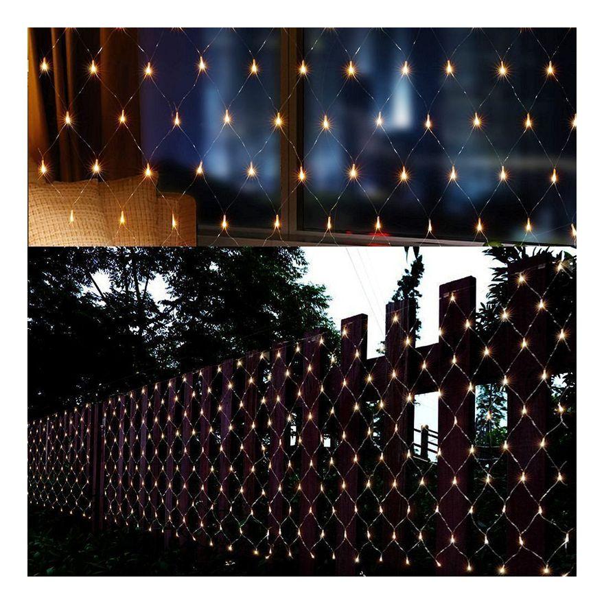 DEL Guirlande filet Noël éclairage Lumières Rideau Guirlande Lumineuse Extérieur