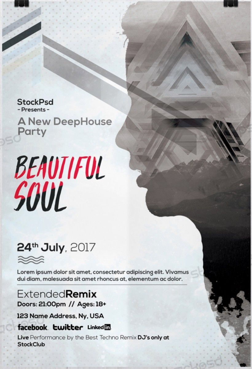 Beautiful Soul – Free PSD Flyer Template - Free PSD Flyer ...