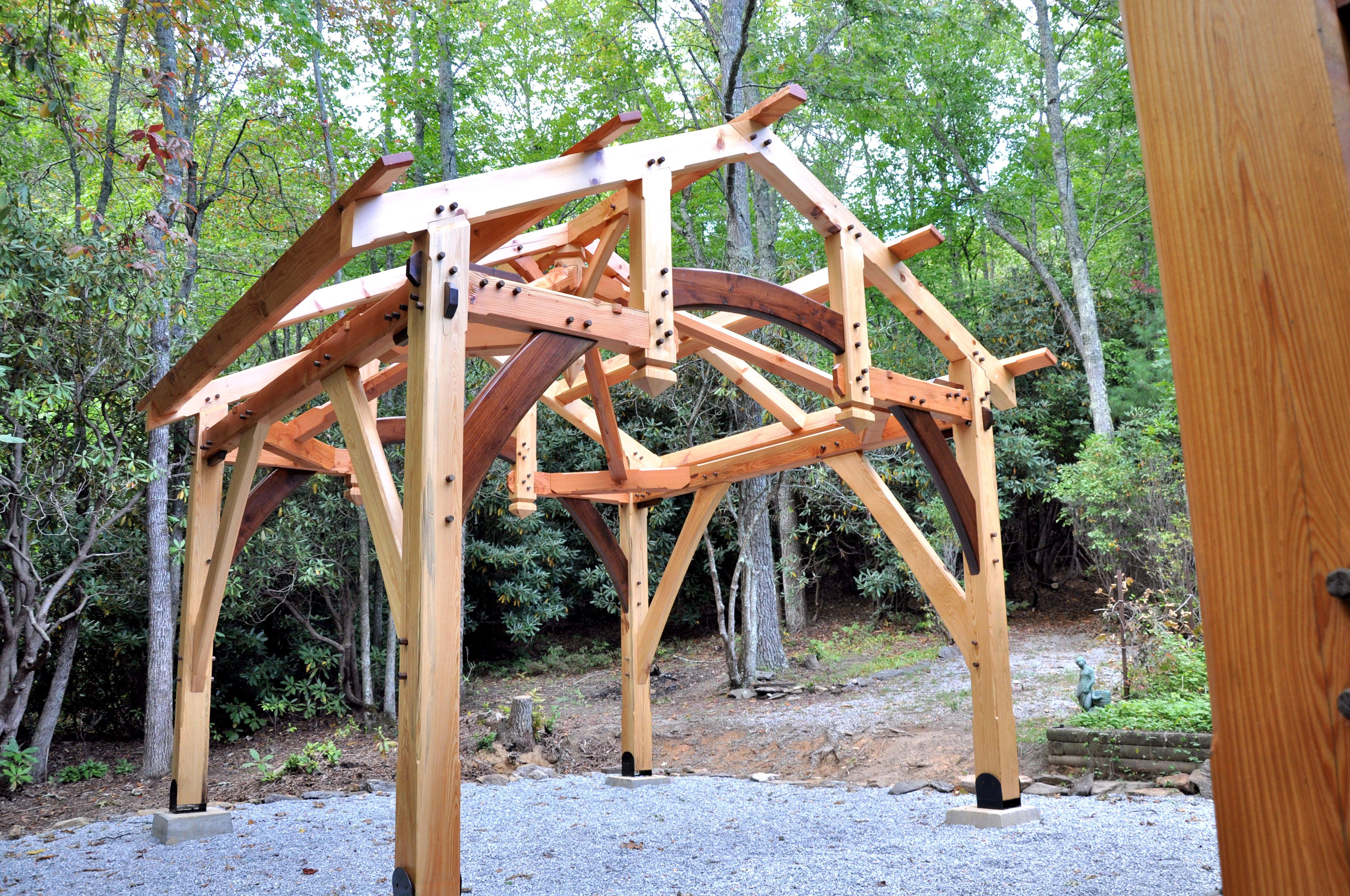 Timber Frame Garden Structures Cashiers 006 Jpg 4 288