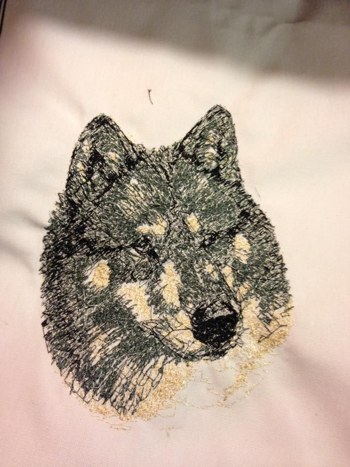 Wolf Photo Stitch Embroidery Design Free Embroidery Designs