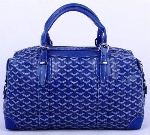 Amazing Goyard Travelling Bags 8758 Blue Cheap St Louis Goyard Bag