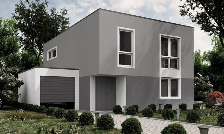 Fassadengestaltung bungalow grau  Eine farbliche stimmige Fassade in Grau. Mehr dazu www.kolorat.de ...