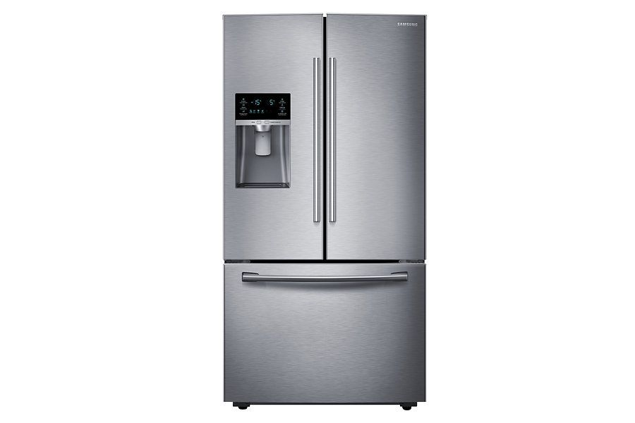 Rf23hcedbsr French Door Refrigerator With Twin Cooling Plus 22 5 Cu Ft French Door Refrigerator French Doors Stainless Steel Refrigerator