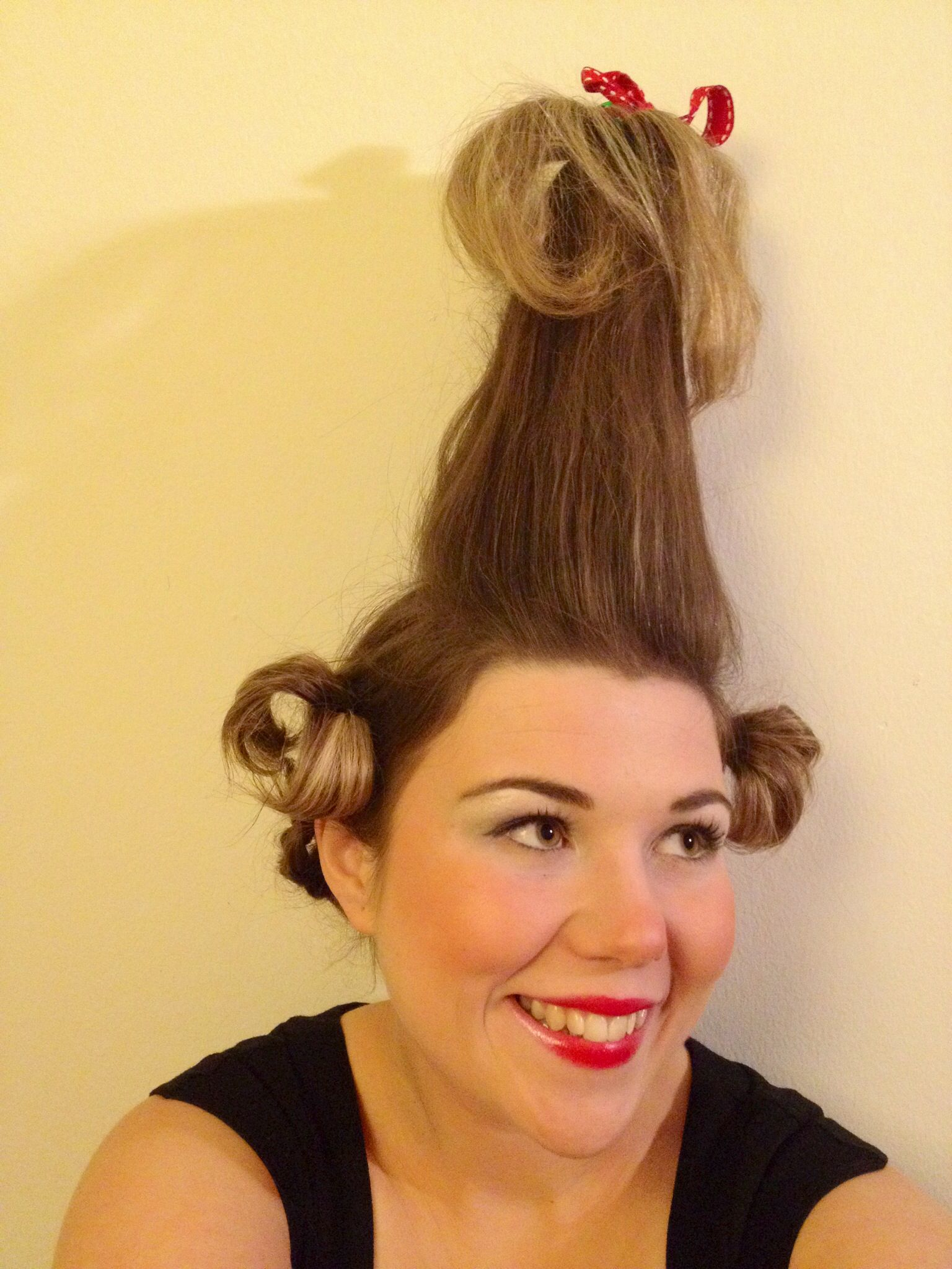 How to make your own grinch costume - Cindy Lou Who From The Grinch Hair Makeup