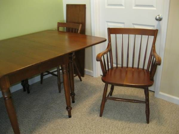 Consider H Willett Countryside Cherry Dining Table And 6 Chairs Solid Cherry Table Dimensions Are 60 By 41 With An Additional Dining Table Leaf Table Dining