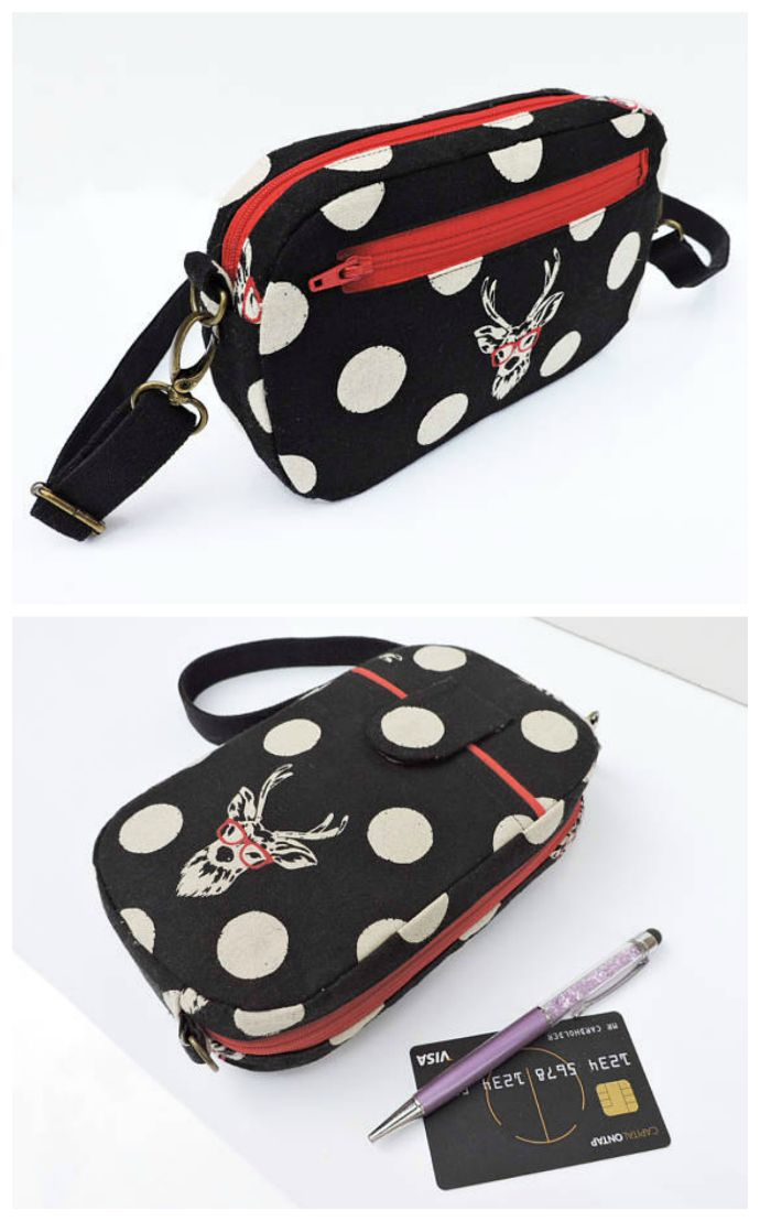 PDF Sewing pattern for The Mini Messenger Bag and wristlet. | diy ...