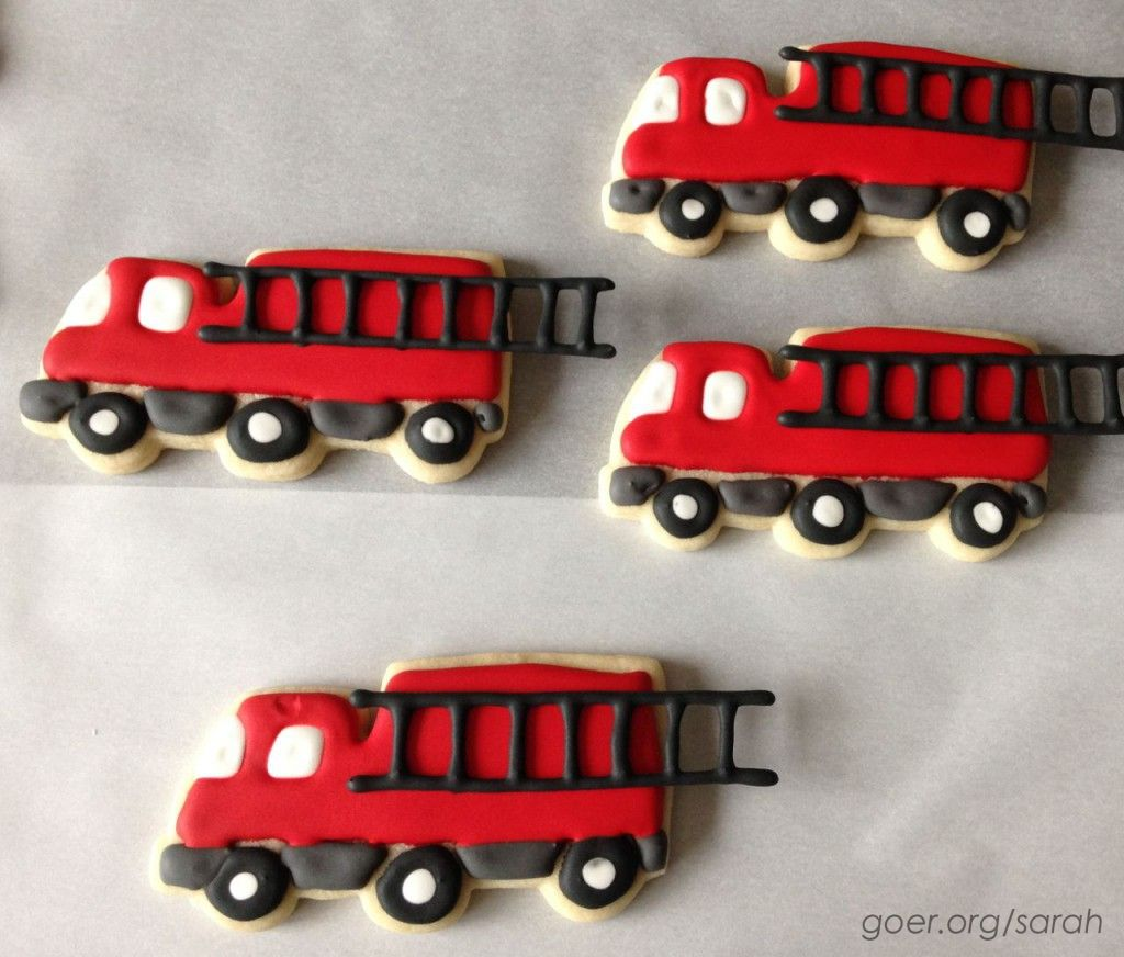 How I Decorated the Fire Trucks by Sarah at Things I Make (www.goer.org/sarah)