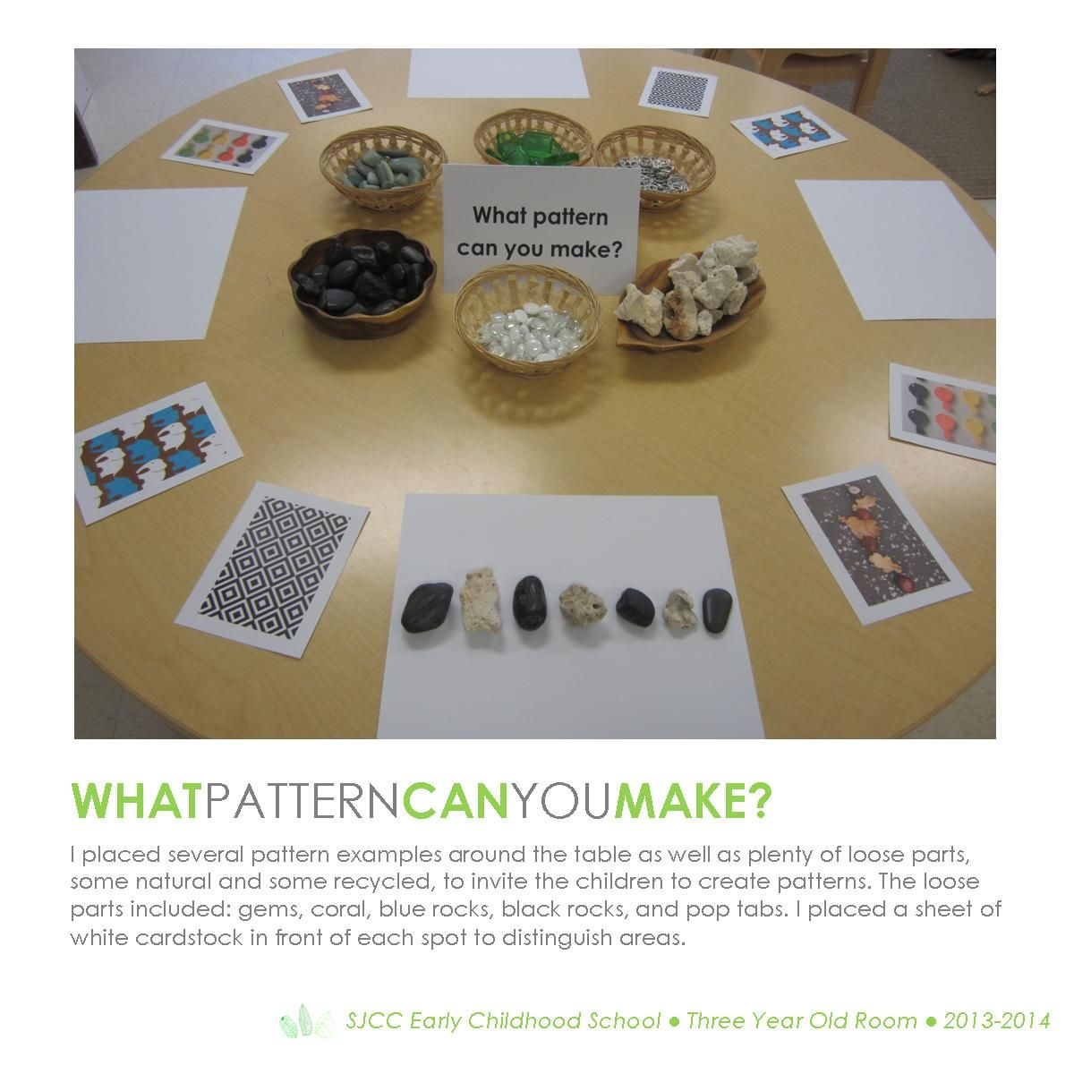 Patterns Three Year Old Classroom Hundred Languages Loose Parts Provocation Constructivism