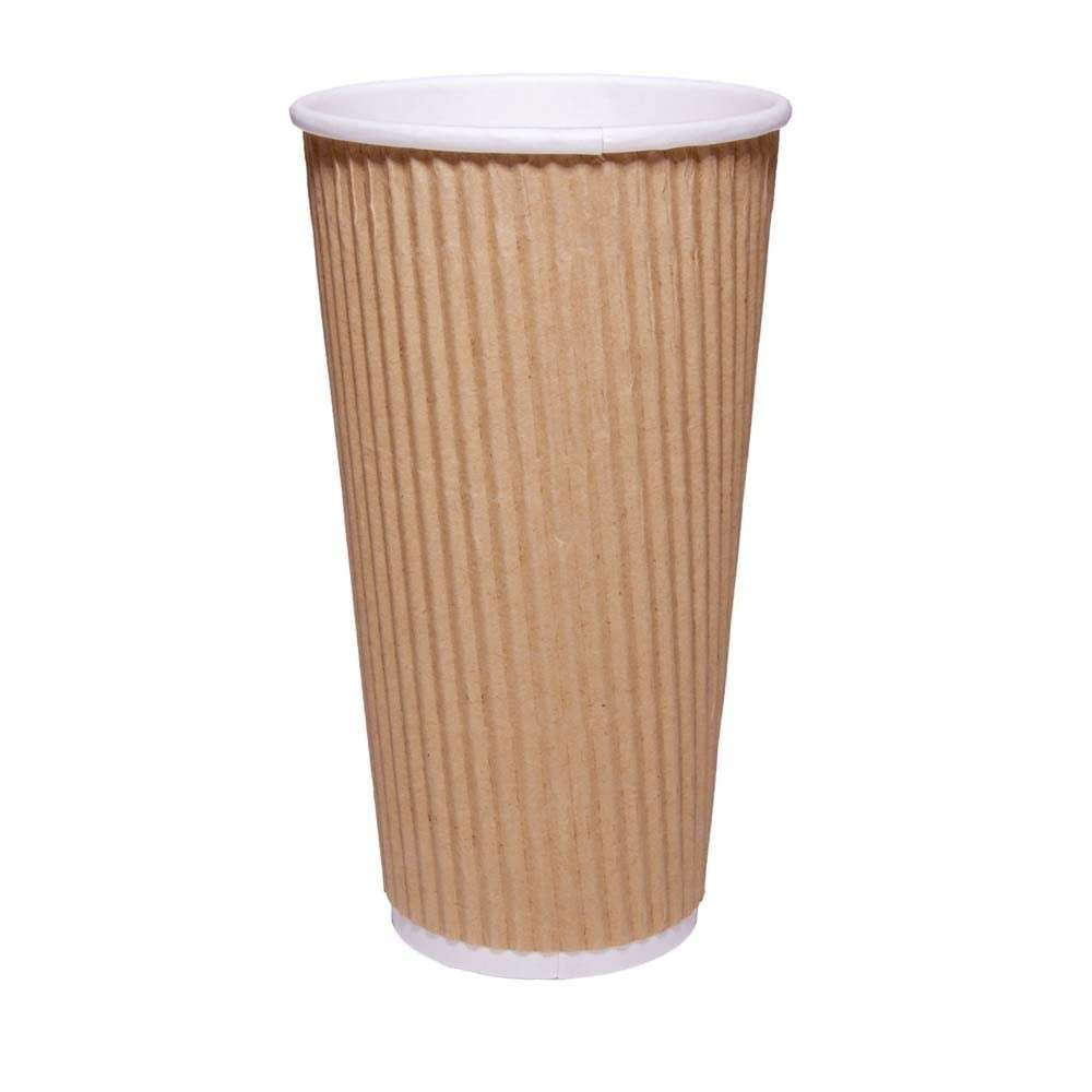 20oz Brown Ripple Coffee Cup| Case of 1000 | Ripple Coffee