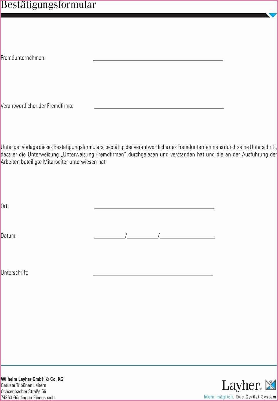 Nett Unterweisung Fremdfirmen Vorlage Unterweisung Vorlagen Arbeitssicherheit