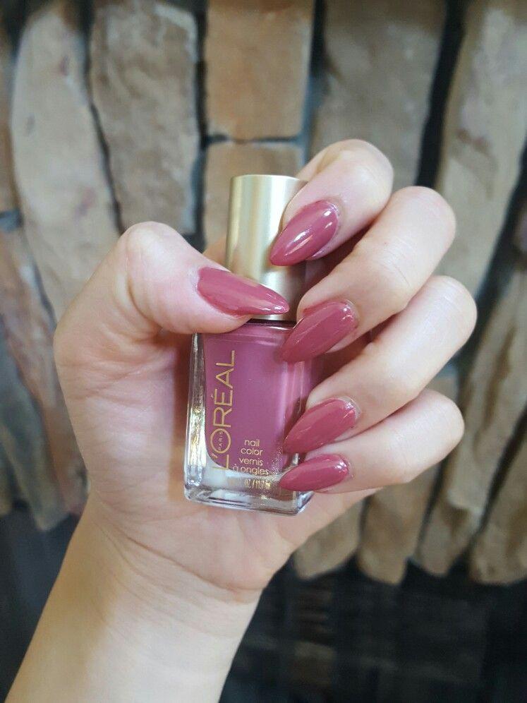 Loreal\'s Spice Things Up #340 mauve nail polish | Nails | Pinterest