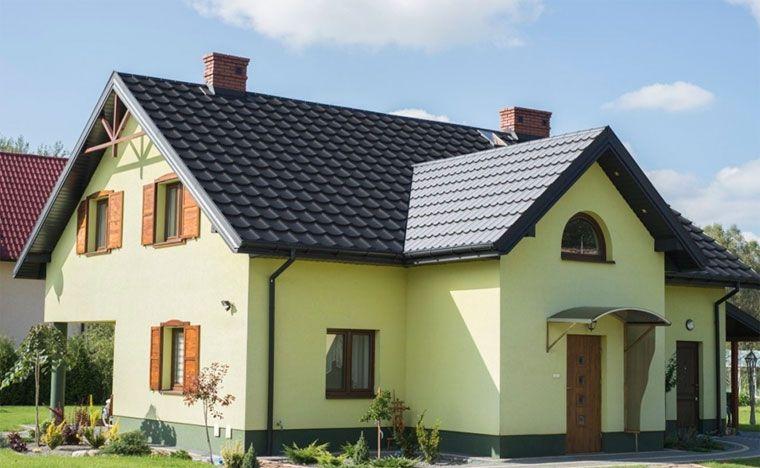 Die Farben der Fassade und des Daches - eine Kombination von Fotos ...