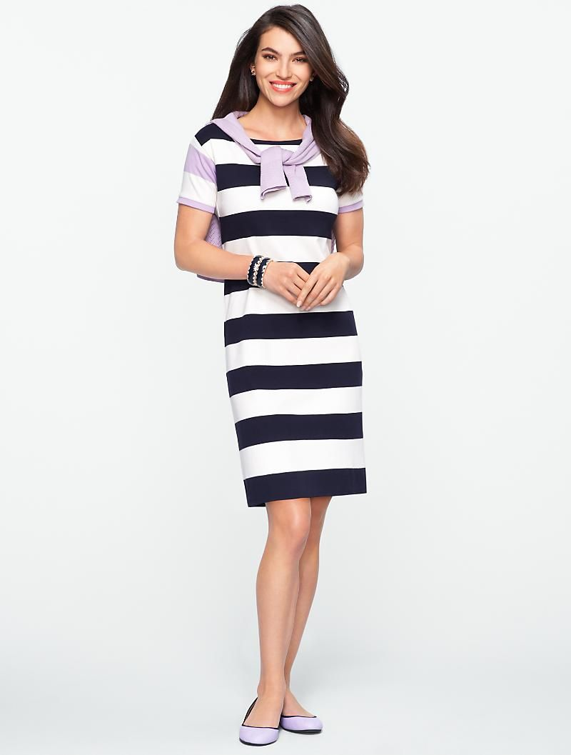 6ecbe7b99 Talbots - Bi-Stripe Tee Dress   Vacation Shop   Petites   Styling ...