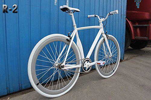 Caraci Cbr2al53wh Aluminum Frame Fixed Gear Bike White 53cm