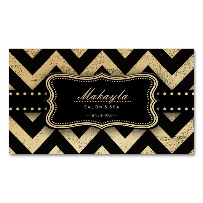 Elegant Black and Gold Grunge Chevron Pattern Double-Sided Standard Business Cards (Pack Of 100). This great business card design is available for customization. All text style, colors, sizes can be modified to fit your needs. Just click the image to learn more!