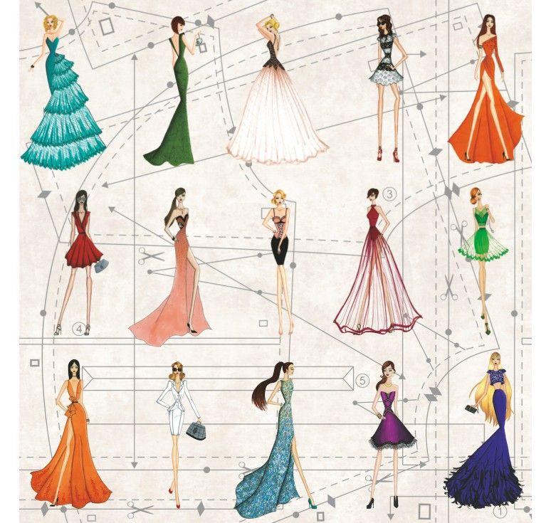 Très Coupon toile coton imprimée patron styliste | couture | Pinterest  LH24