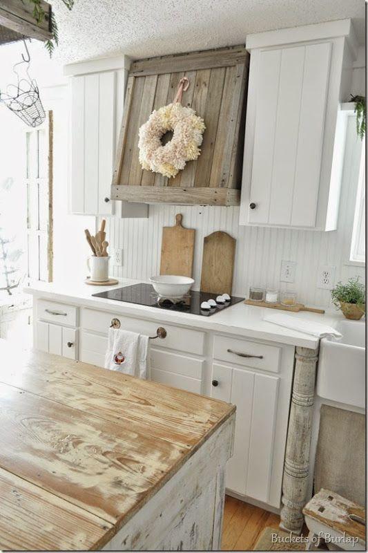 Farmhouse kitchen happy Pinterest Küche, Landhäuser und Wohnen - dunstabzugshaube kleine küche