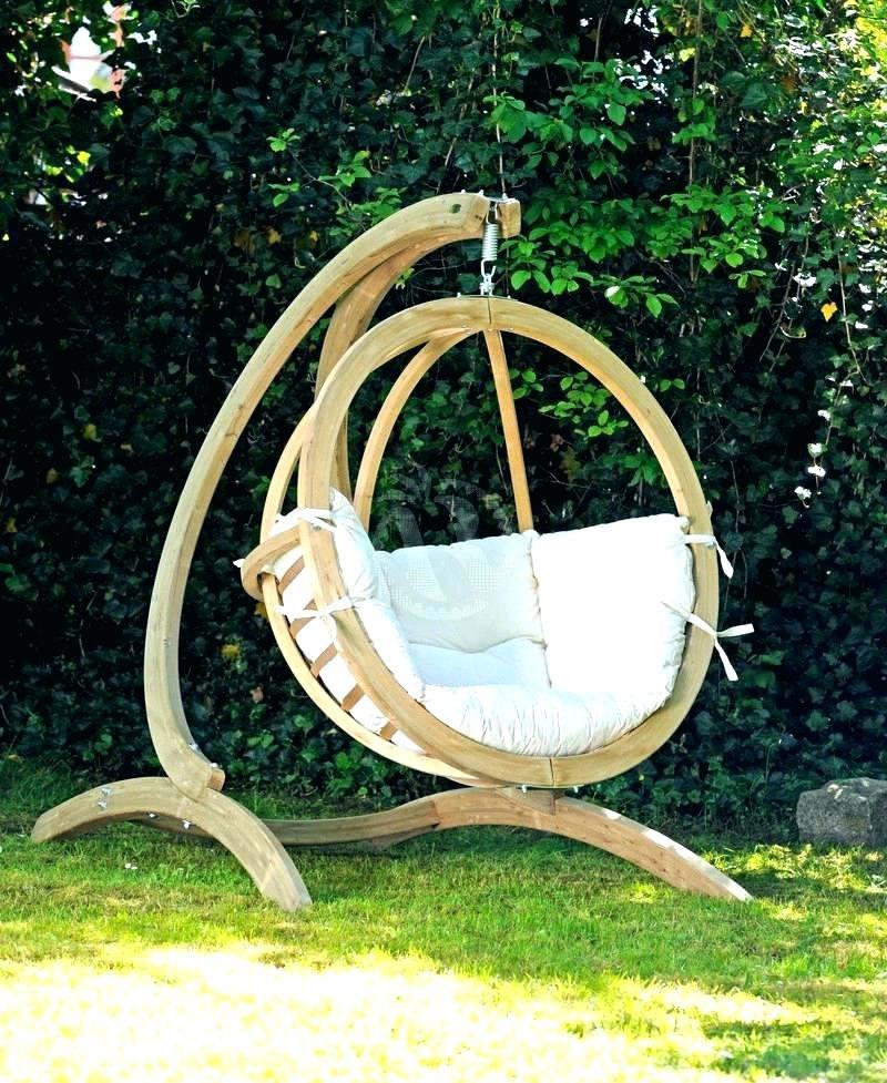 Wooden Swing Chair Outdoor Free Standing Swing Standing