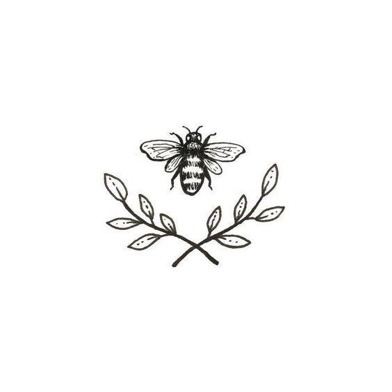 so süß Bienentattoo Sweet Little Paperie auf E … – #on #bien tattoo #mnne …  Piercing für Frauen #diytattooimage – diy tattoo image