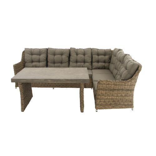 DecMode Great Outdoors Wicker Sofa Sectional Patio Conversation Set   Turn  Your Outdoor Time Into Something Truly Relaxing With The DecMode Great  Outdoors ...