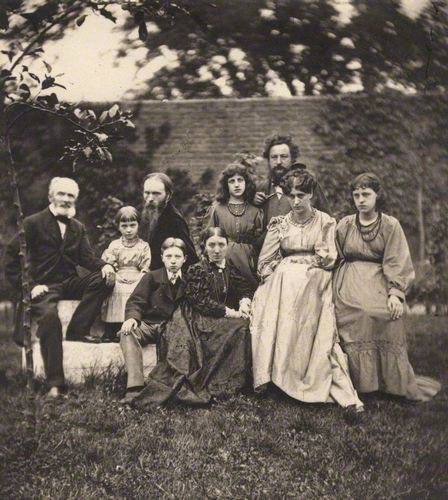 The Morris and Burne-Jones Families. The beautiful Janey nearly always looks cross in photographs...