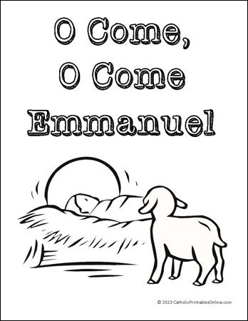 O Come, O Come Emmanuel Coloring Page | Sunday school ...