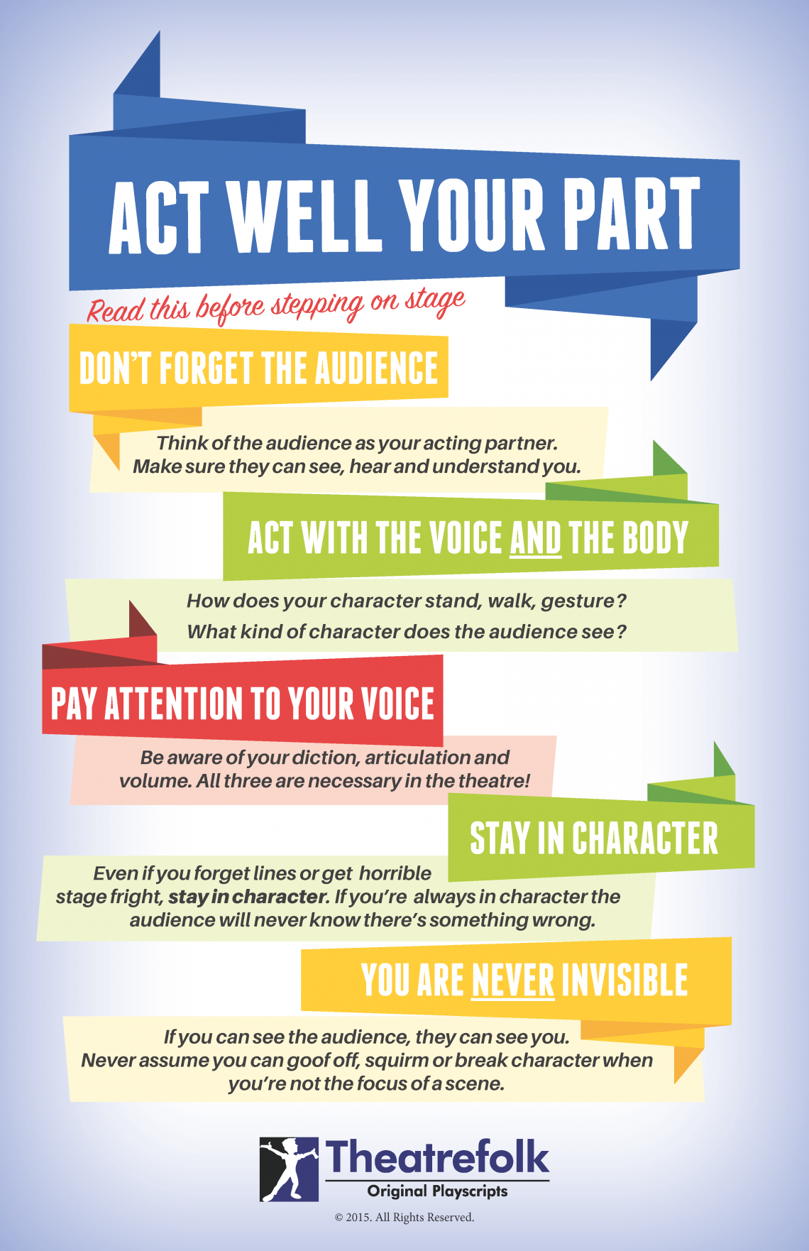Free Poster Common Mistakes Beginning Actors Make