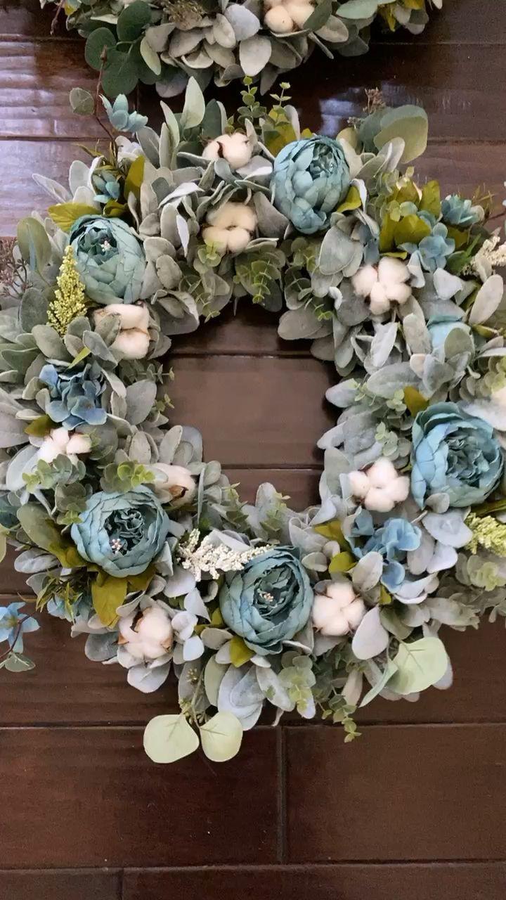 Photo of Turquoise peony wreath