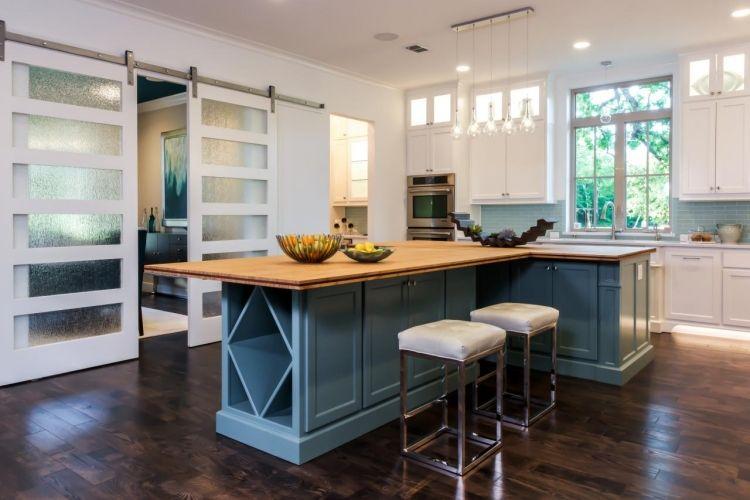 #Dekoration Schiebetür Zwischen Küche Und Wohnzimmer Aus Holz Oder Glas? # Schiebetür #zwischen