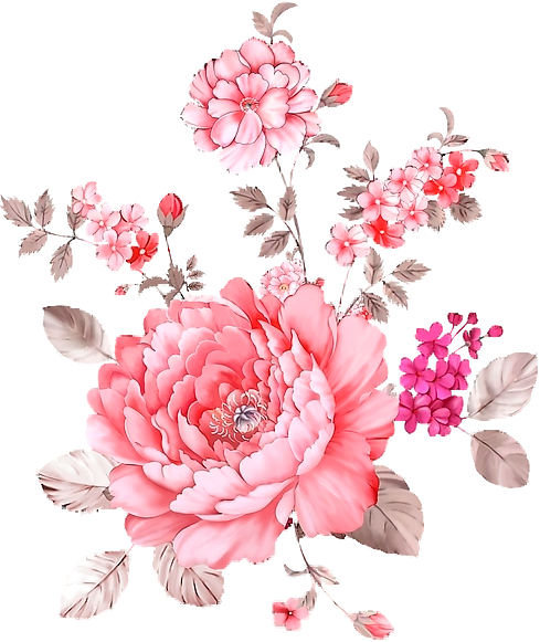 PINK FLOWERS , TRANSPARENCY / OVERLAY FOR PERSONAL USE