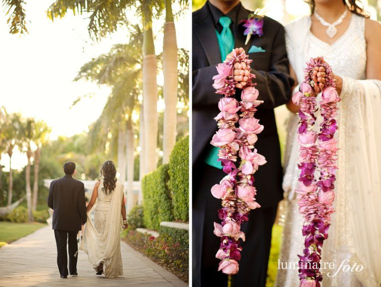 Naples Wedding Photography With A Photojournalstic Style Indian Wedding Garland Indian Wedding Flowers Garland Wedding