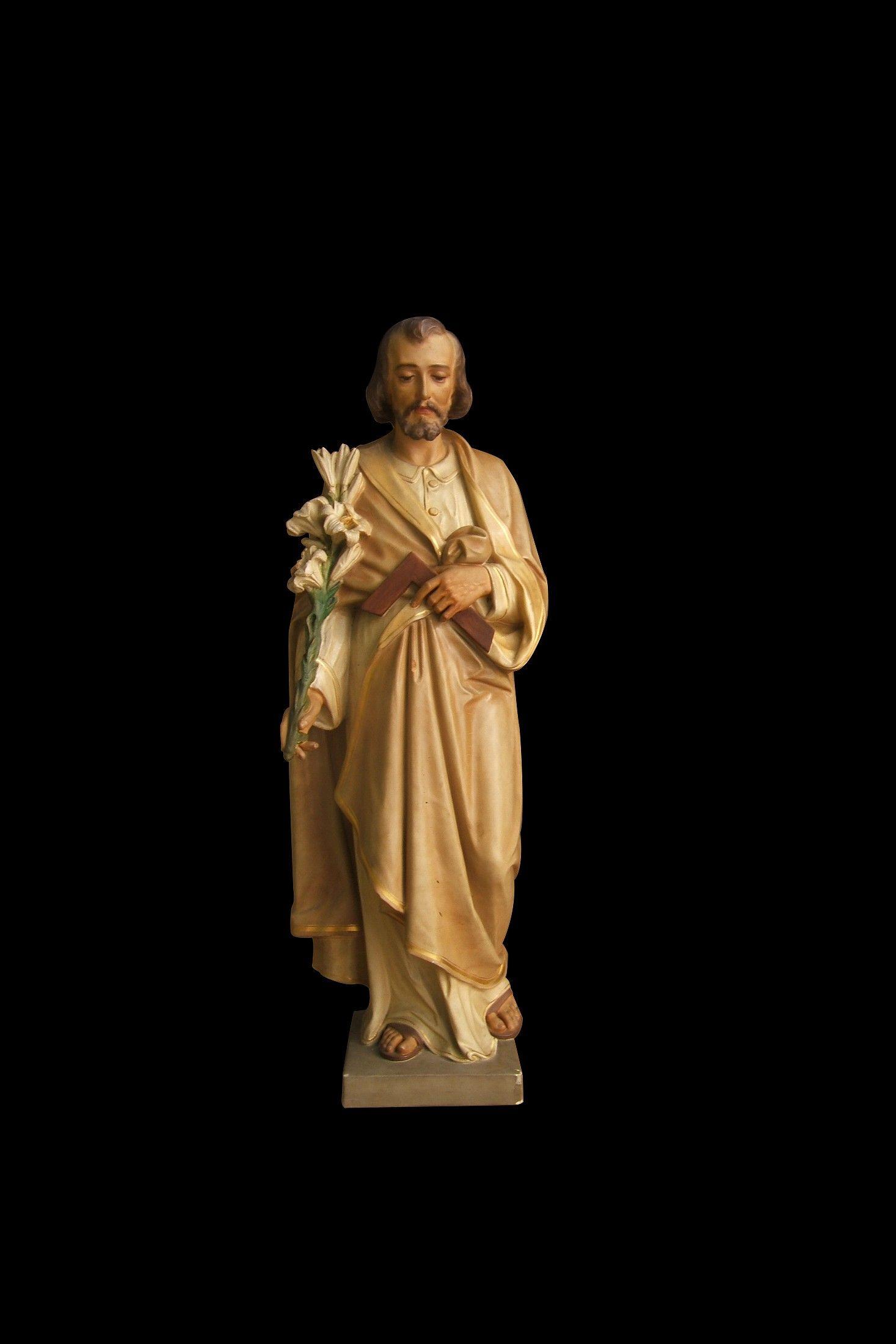 Vintage Traditional Daprato Catholic St  Joseph the