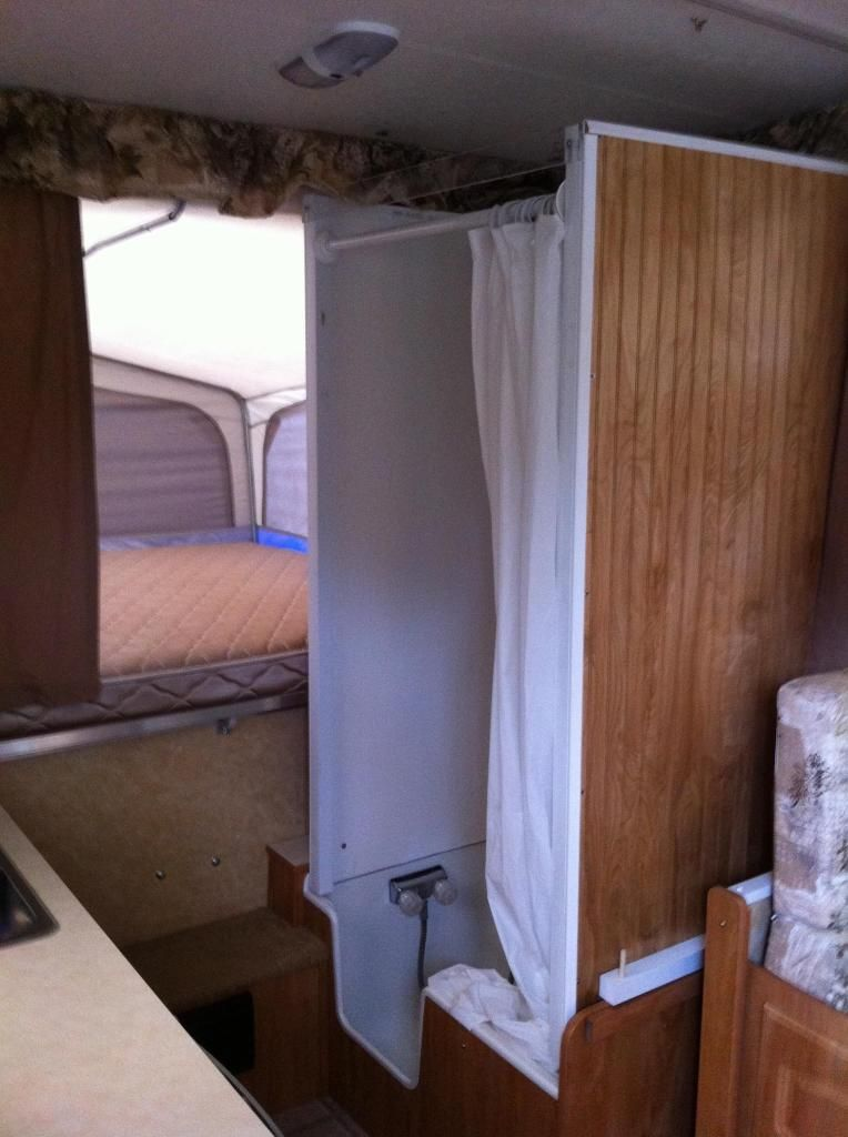 Who Wants Hard Walls For Their Inside Shower Popup Camper