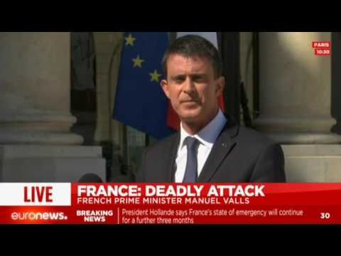 LIVE: French Prime Minister Manuel Valls comments on Nice attacks
