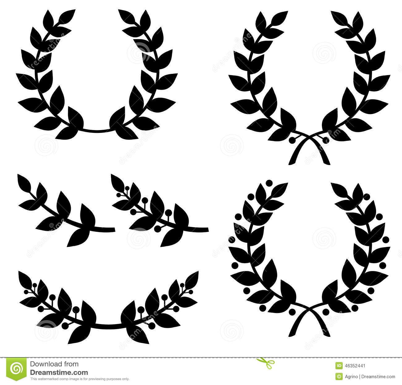 Image result for laurel wreath silhouette Laurel, Silhouette