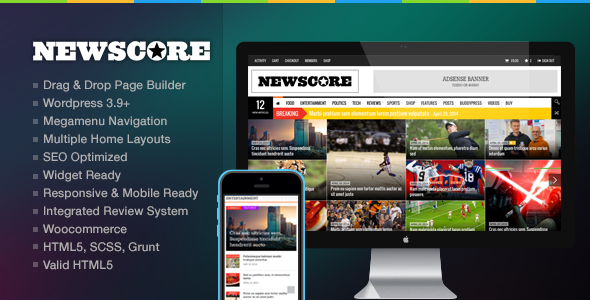 Theme NewsCore 1.9.3 – A Blog, Magazine and News Theme for WP ...