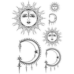 Hazel Thorn Bohemian Sun And Moon Tattoo Design Inked