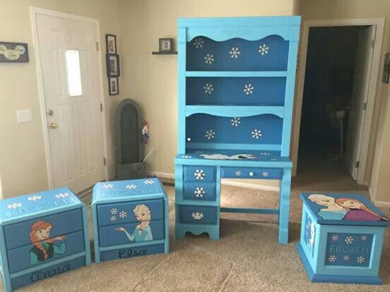 Frozen bedroom set | refurnished furniture | Pinterest | Frozen ...