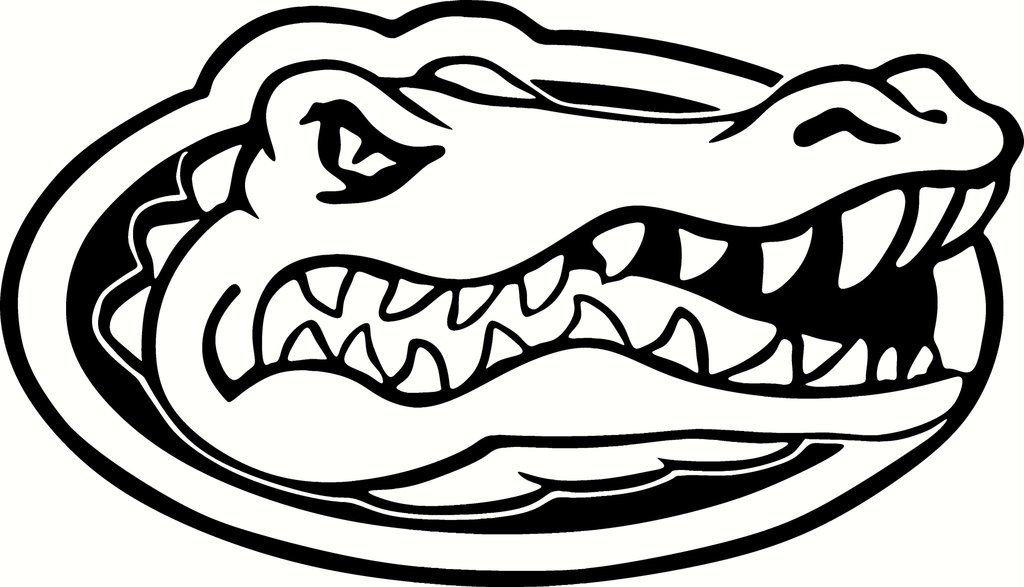 Florida Gators Logo Black And White Gator Logo Gator Image