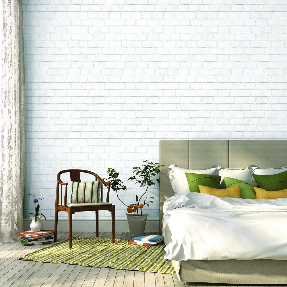 Tempaper Brick White Self Adhesive Removable Wallpaper 197 8th