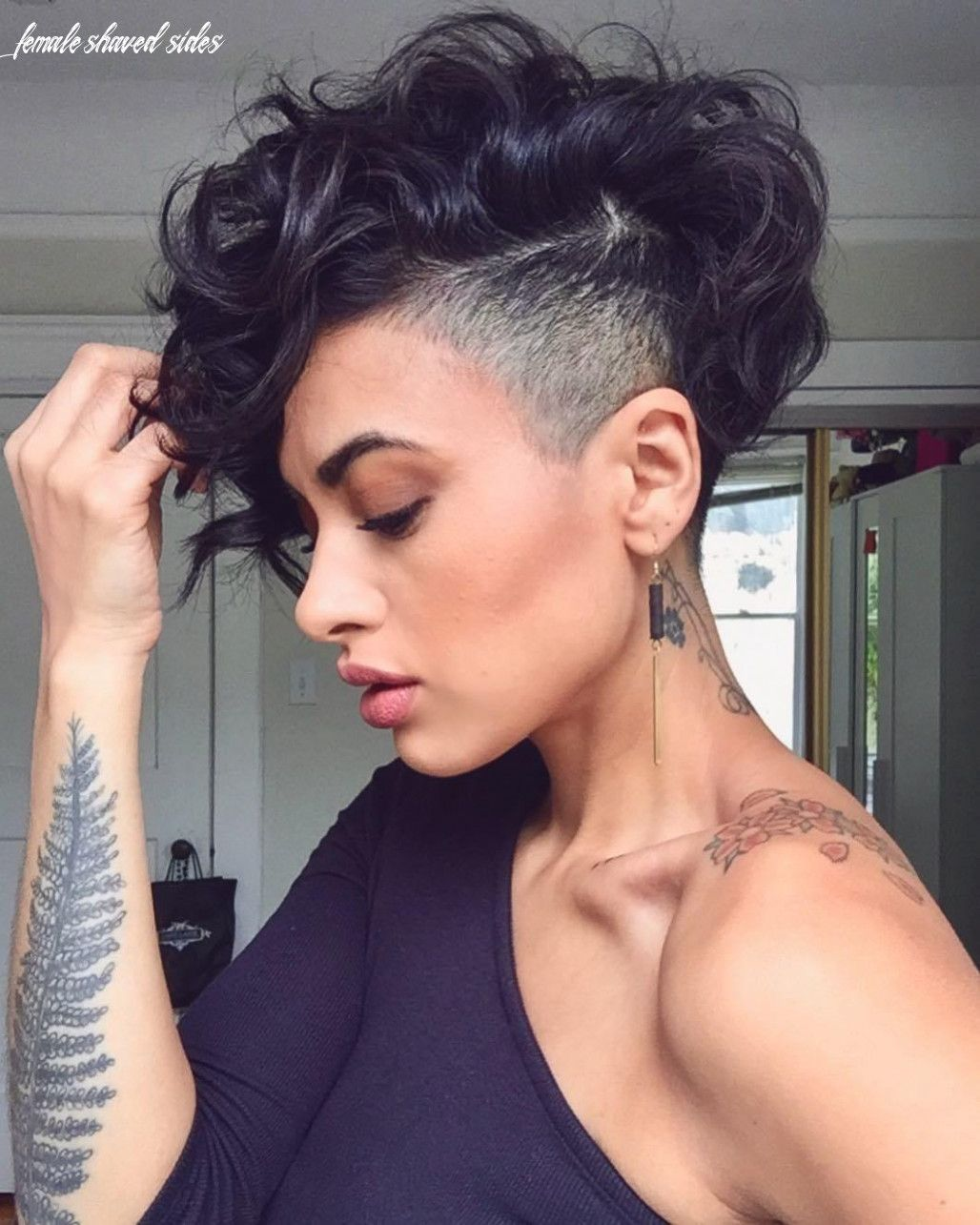 9 Female Shaved Sides In 2020 Short Hair Undercut Curly Pixie Haircuts Hair Styles