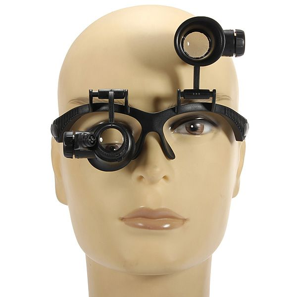 8 Lens 10x 15x 20x 25x Headband 2led Magnifier Magnifying Loupe 9892g Magnifier Lens Focal Distance