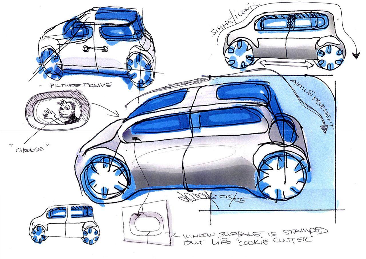 Nissan Cube Design Sketches