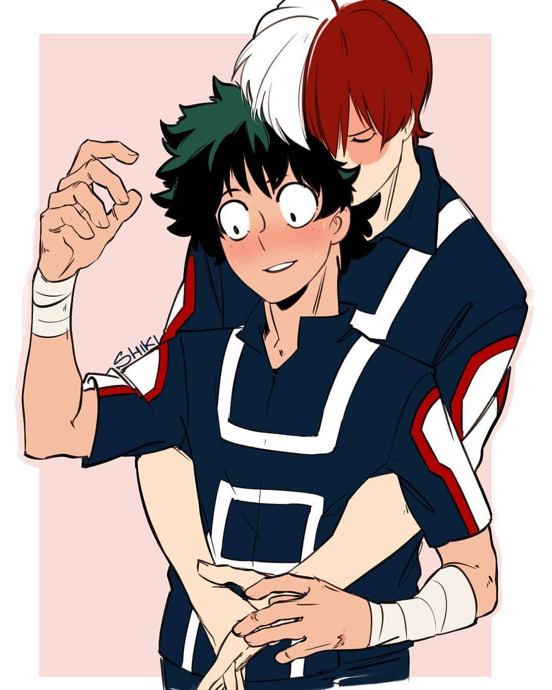 Anime Art Fanart Drawing Sketch Bnha Bokunoheroacademia Izuku Midoriya Izukumidoriya Deku Tododeku Todoroki Hero My Hero My Hero Academia Shouto