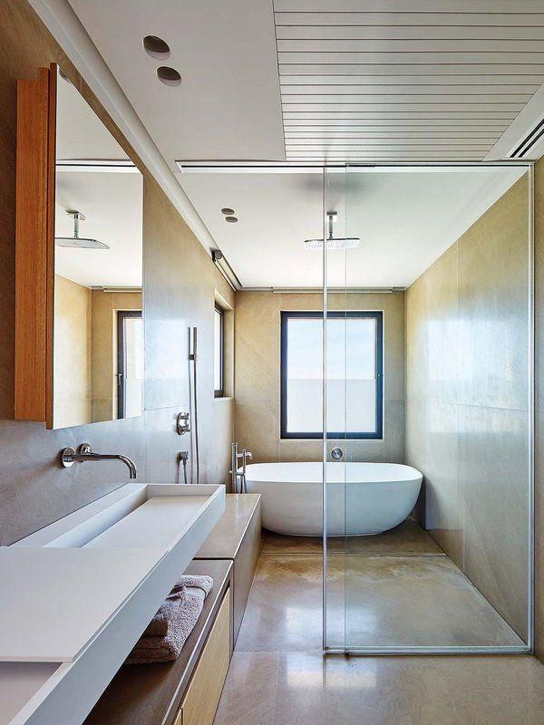 Una espectacular casa con el mar de fondo Pinterest Bañera - Baos Modernos Con Ducha Y Baera