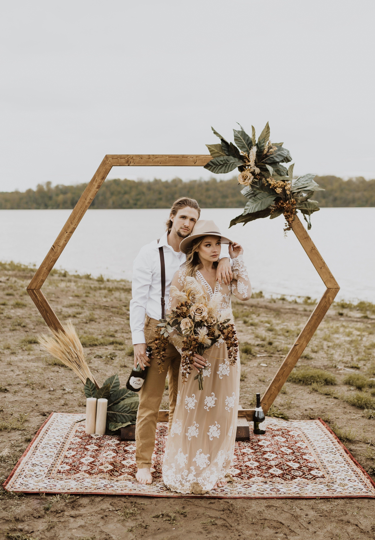 Boho Hexagon Wedding Arch Event Rental -   15 boho wedding Design ideas