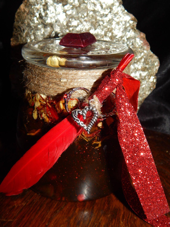 LARGE Love & Lust Honey Jar - 27 oz Honey Jar Spell - Hoodoo Spell Jar - Witch Jar - Spell Jar - Folk Art Item - Magickal Curio - Occult Jar (49.95 USD) by esoTERRAca